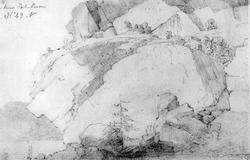 "RisørFra skissealbum av John W. Edy, ""Drawings Norway 1800"""