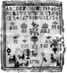 Navneduk fra 1795. Kristiansand, Vest-Agder.