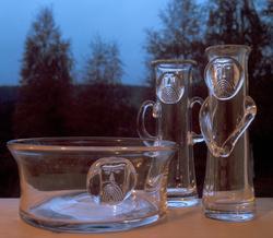 Brukskunst i glass. Illustrasjonsbilde fra Nye Bonytt 1975.