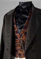Bonjour av brunt kläde, ca.1850. Nordiska museet inv nr 1107