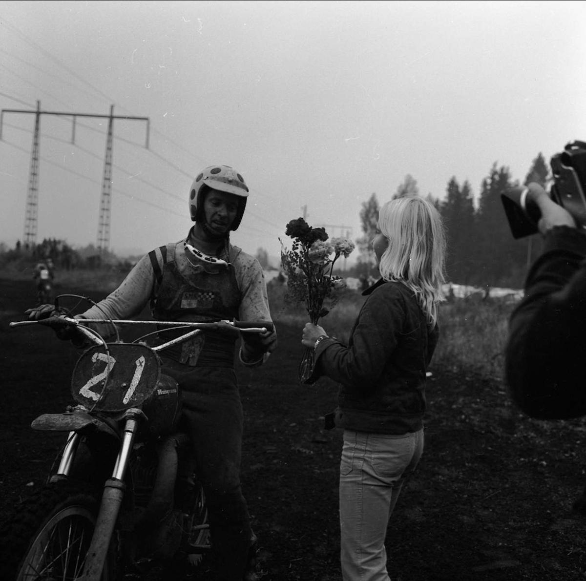 Motocrosstävling i Tierp, Uppland 1972