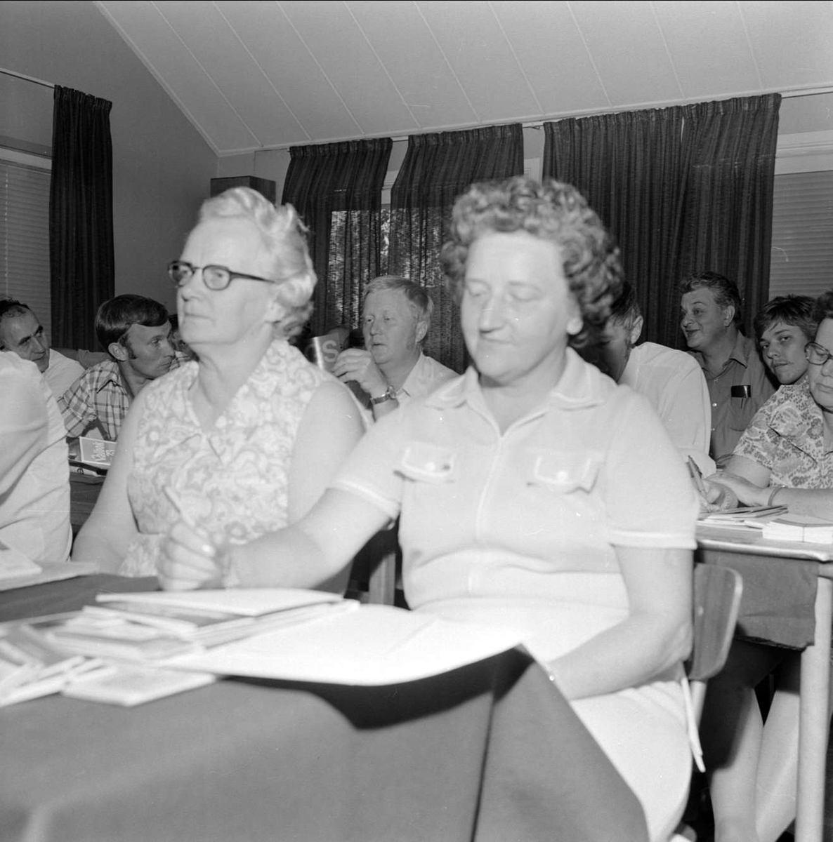 Sannolikt kursdeltagare, Tierp, Uppland 1973