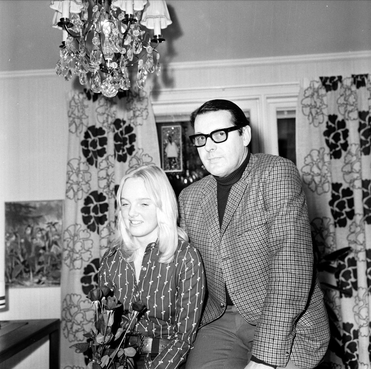Yvonne Eriksson, Tierps lucia, Tierp, Uppland december 1973