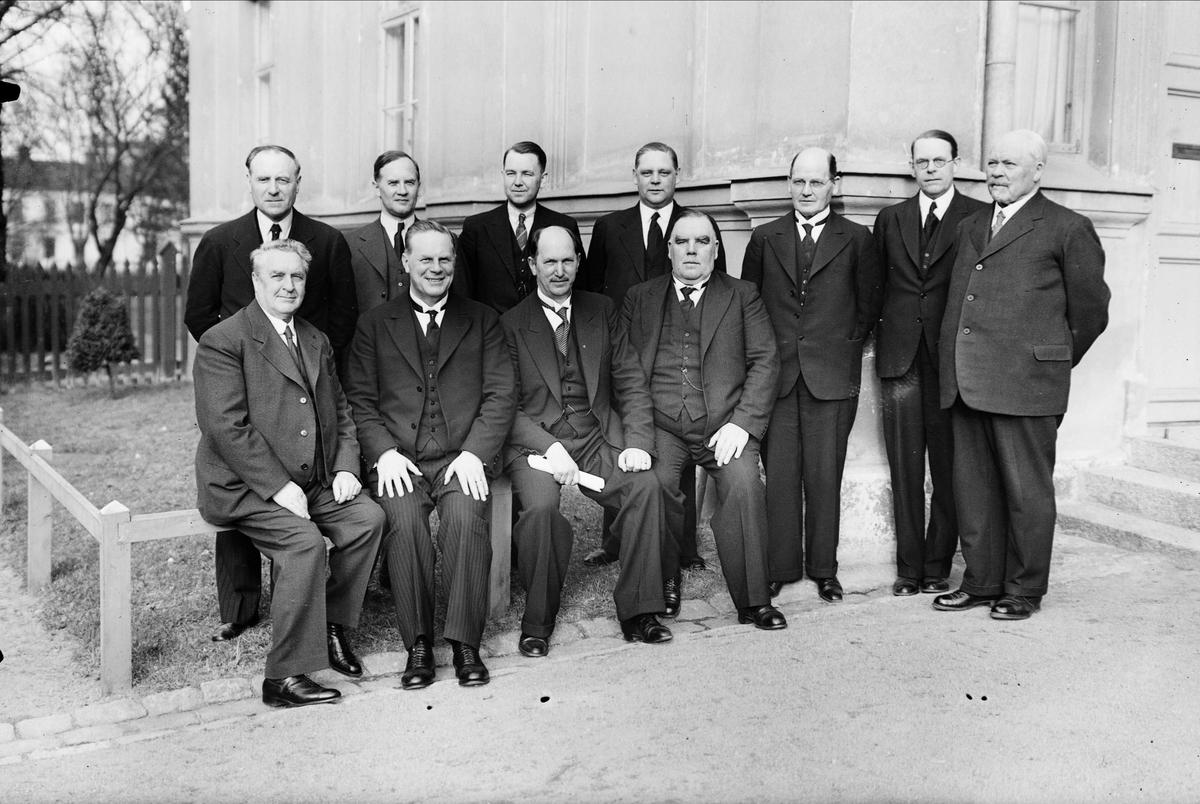 Grupporträtt - män, sannolikt Uppsala, 1937