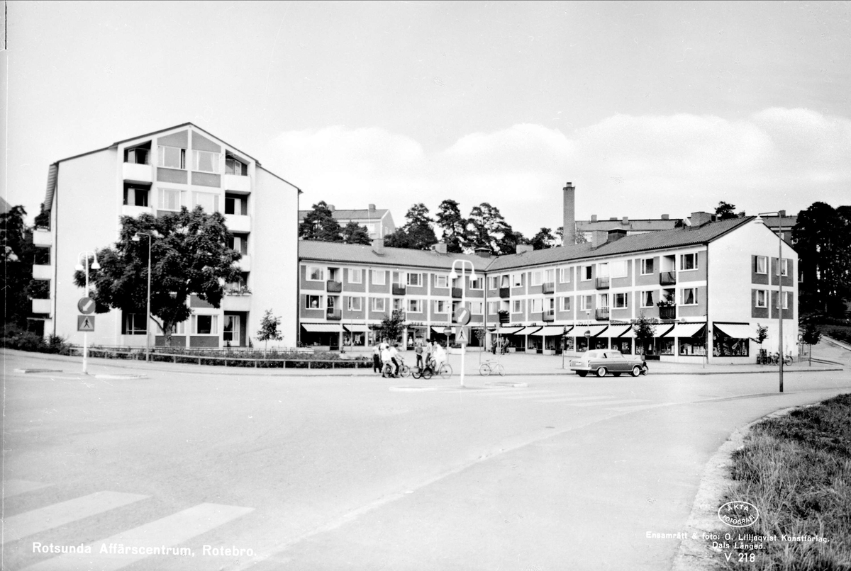 Rotsunda affärscentrum, Rotebro, Sollentuna socken, Uppland 1961