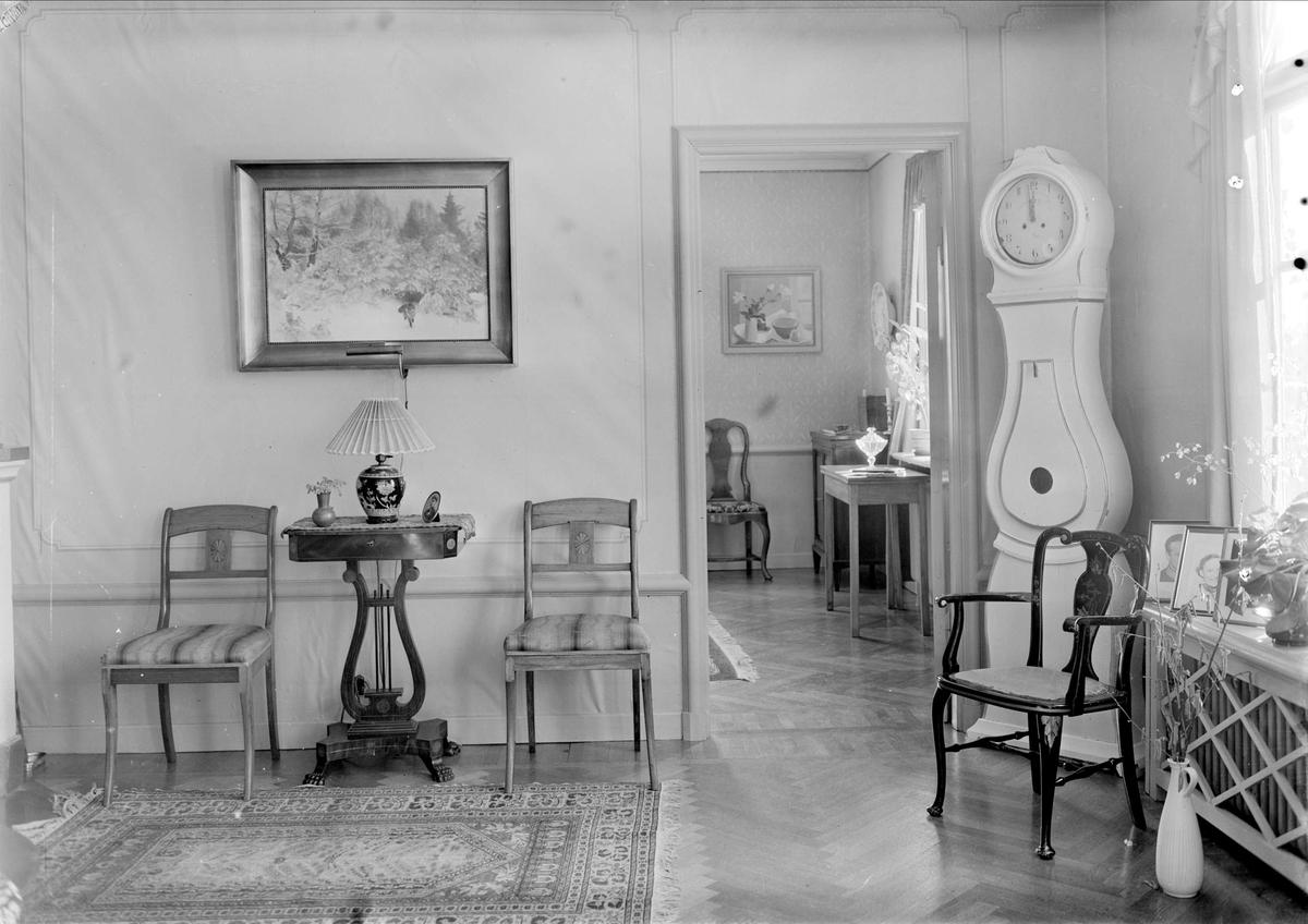 Interiör i läkaren Olof Bratts hem, Uppsala 1949