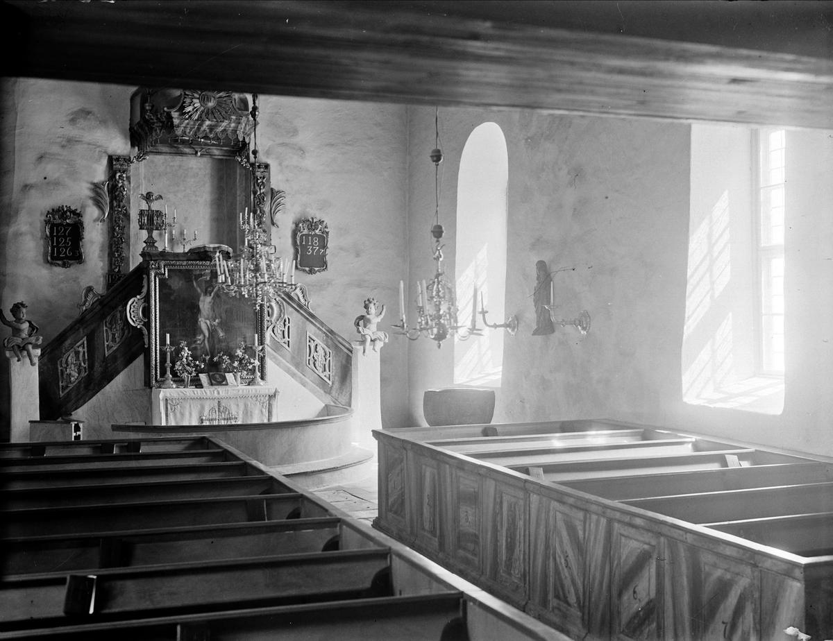 Interiör i Fröslunda kyrka, Fröslunda socken, Uppland