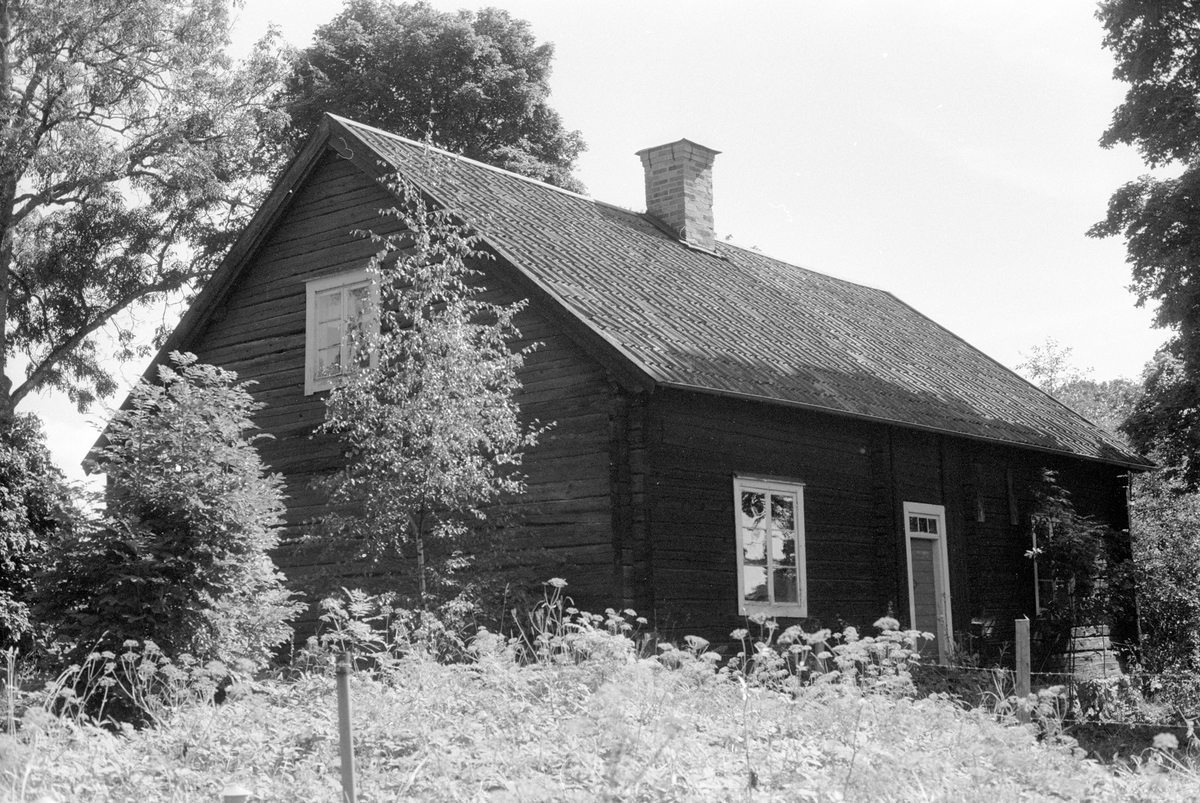 Drängstuga, Knutby prästgård, Knutby, Knutby socken, Uppland 1987