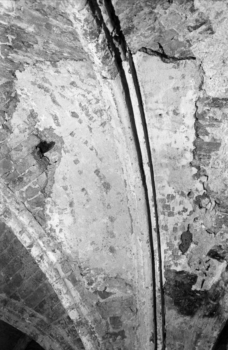 Valv i Gotiska salen i sydvästra flygeln på Biskops-Arnö, Övergrans socken, Uppland oktober 1987