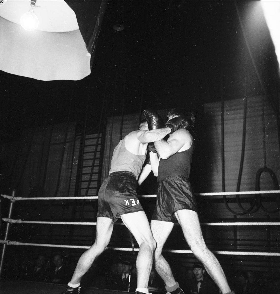 Boxningsmatch - Mellansvenska mästerskapen, Uppsala 1948