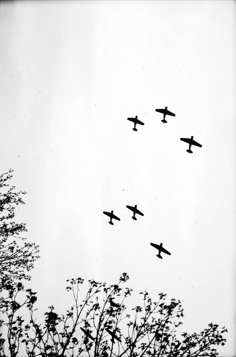 Flygets dag, sannolikt på Upplands Flygflottilj, F16, Ärna, Uppsala 1946