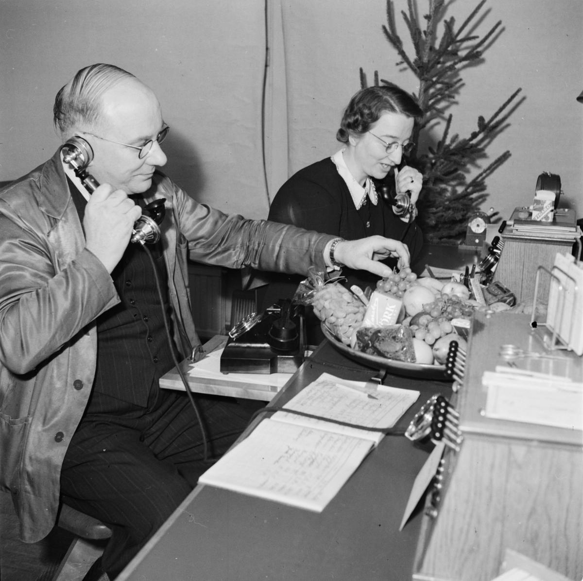 Julafton - telefonist, Uppsala 1946