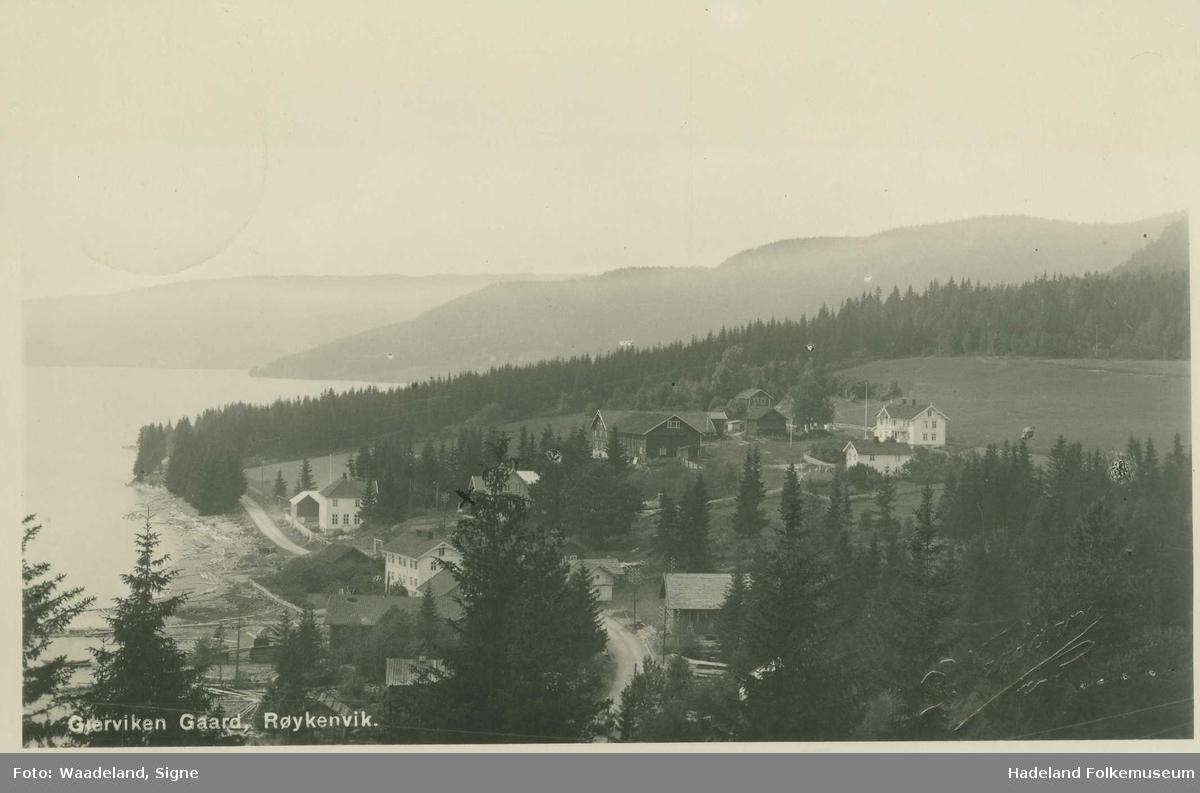 Gjervika med Gjærviken gård og pensjonat