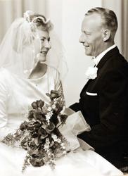 Brudeparet Elisabeth Ubostad og Torkjell Haaland, Grindheim.