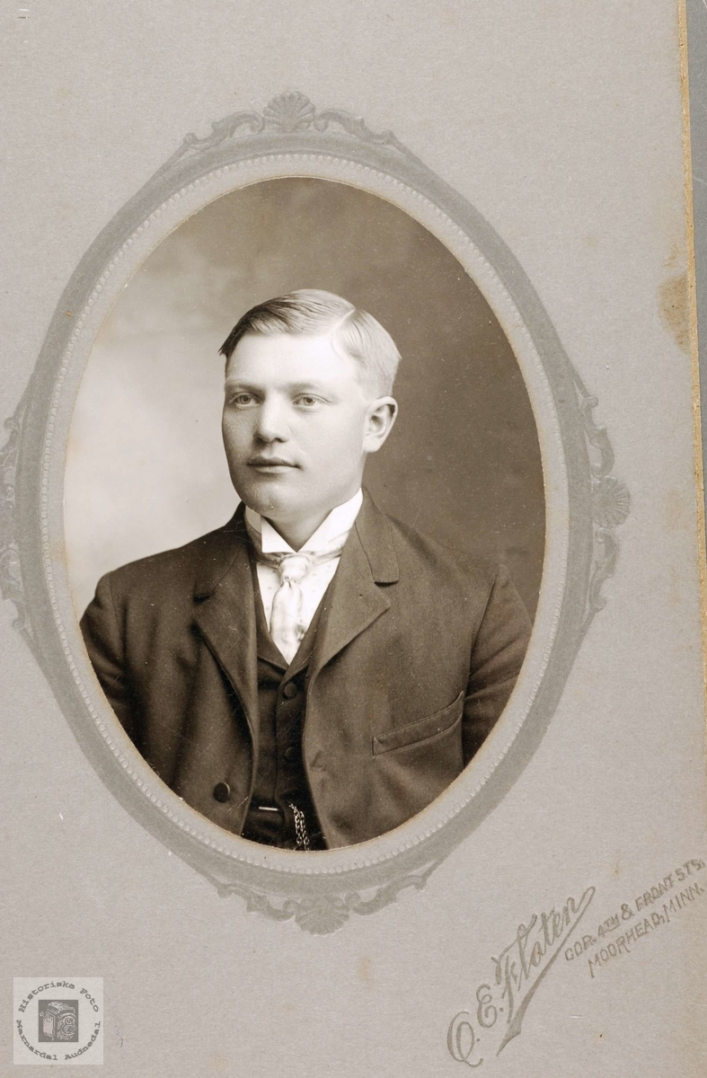 Portrett av Tobias Øydna, Grindheim.