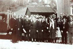 Gravferda til Jørgine Sveindal på Vestre Sveindal i Grindheim senere Audnedal.