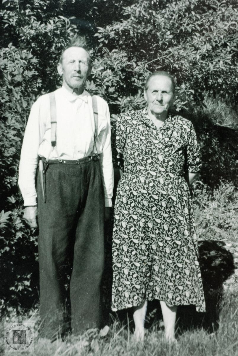 Ekteparet Tosten og Guri Håland. Grindheim Audnedal.