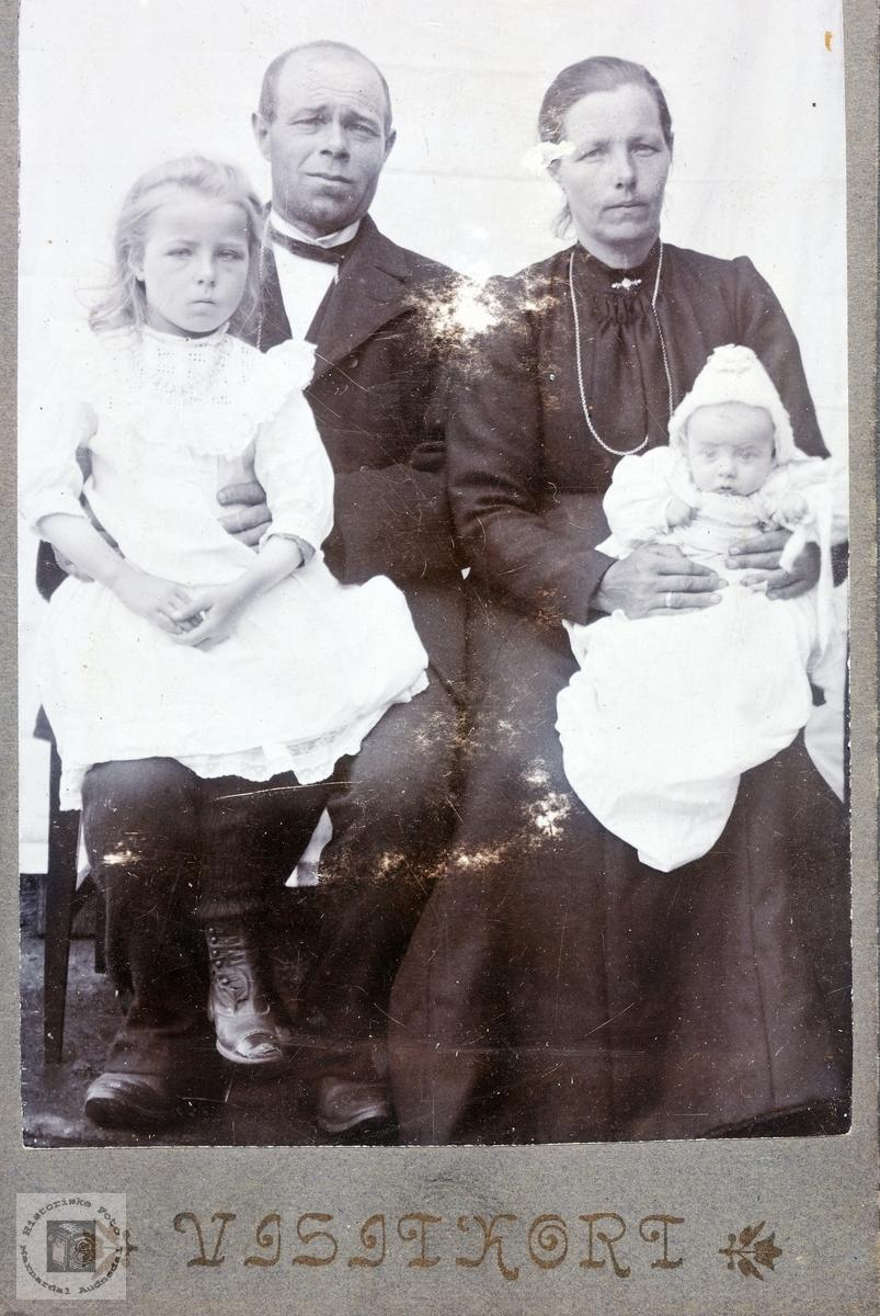 Portrett av familien Seland, Konsmo.