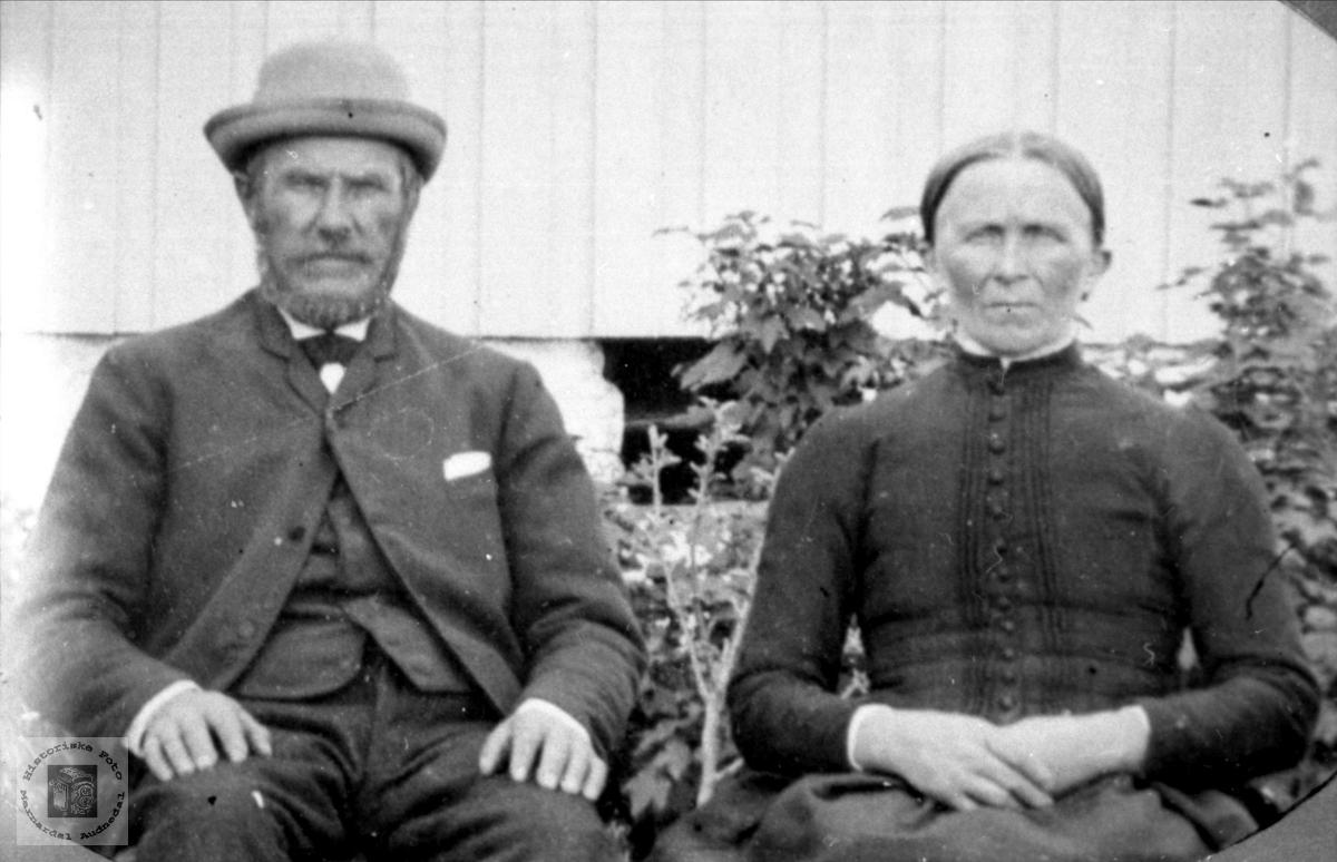 Ekteparet Ånen og Marte Haraldstad. Bjelland.