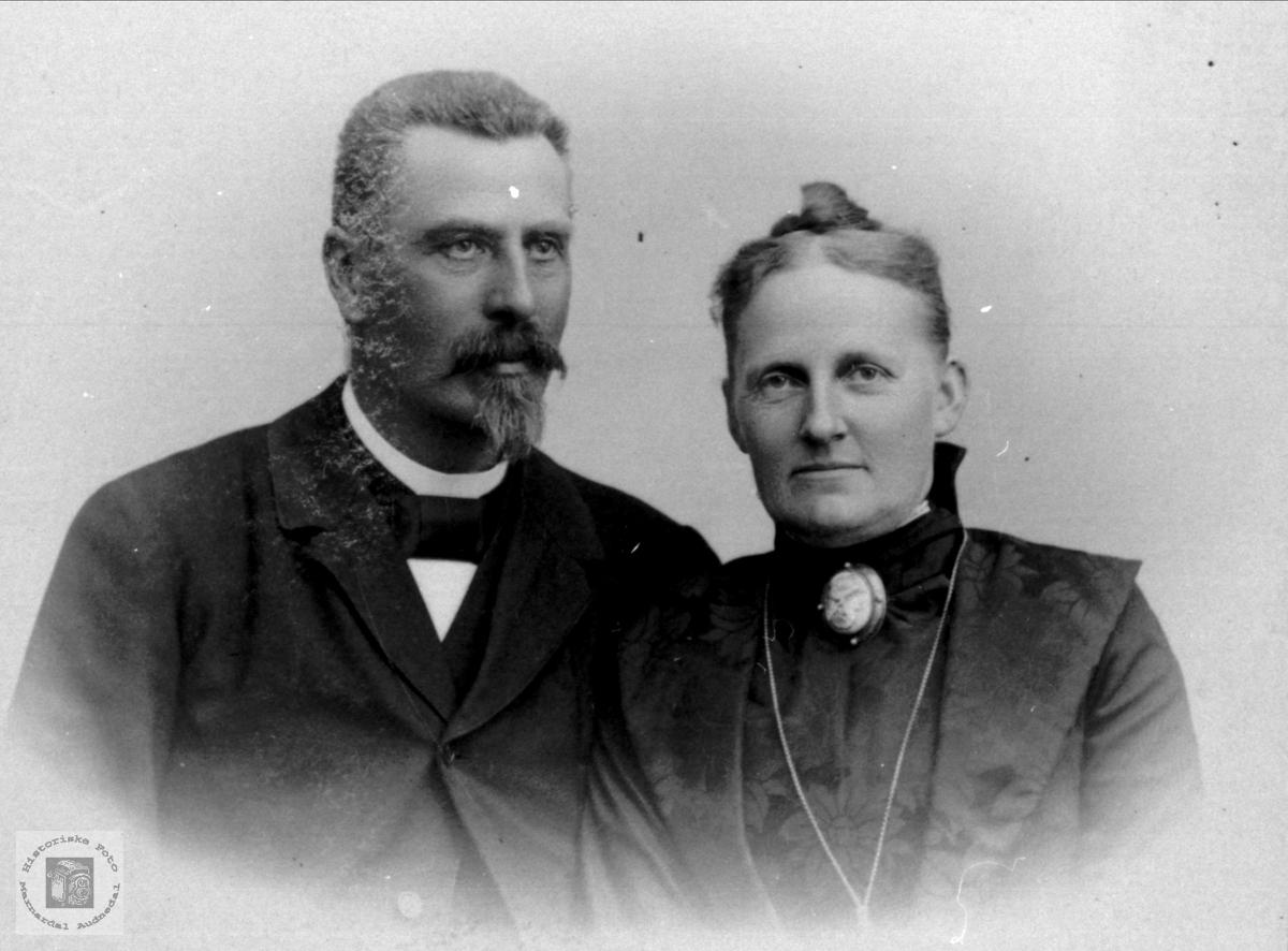 Portrett av Dr. Nørregaard og frue.