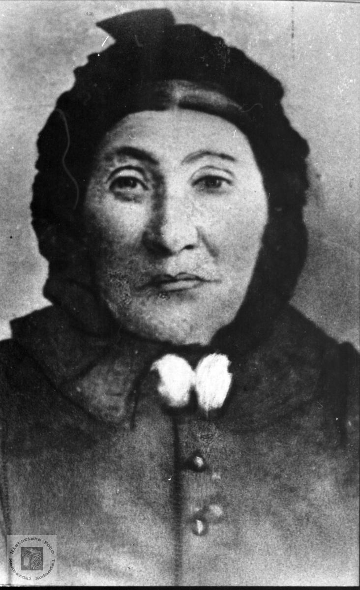 Portrett av Berte Abelset, Bjelland.