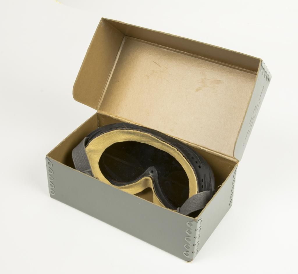 De är försedda med ett grått glasöga (lins). Glasögonen cf5ddaf7311f0