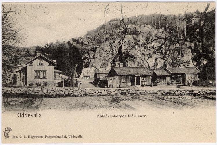 """Tryckt på kortet: """"Uddevalla, Kålgårdsberget från norr."""""""