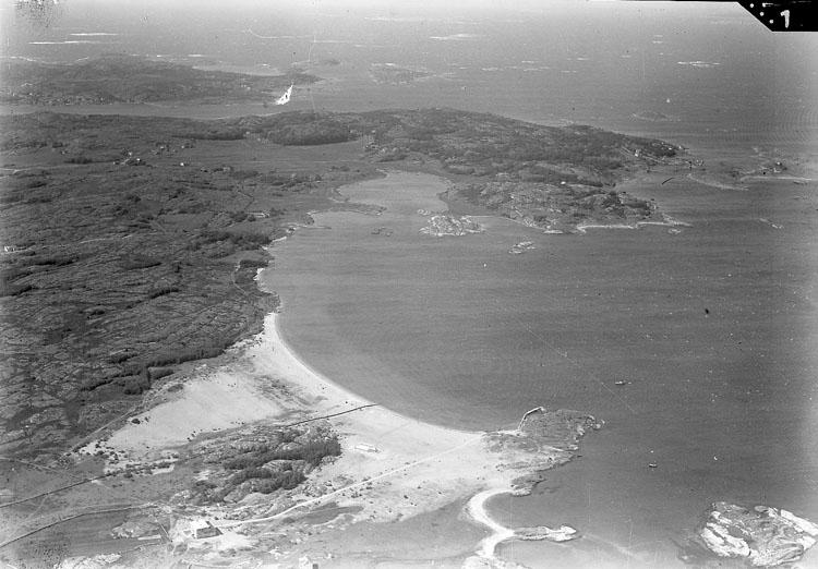 Flygbild Kilesand på Sydkoster 1938.