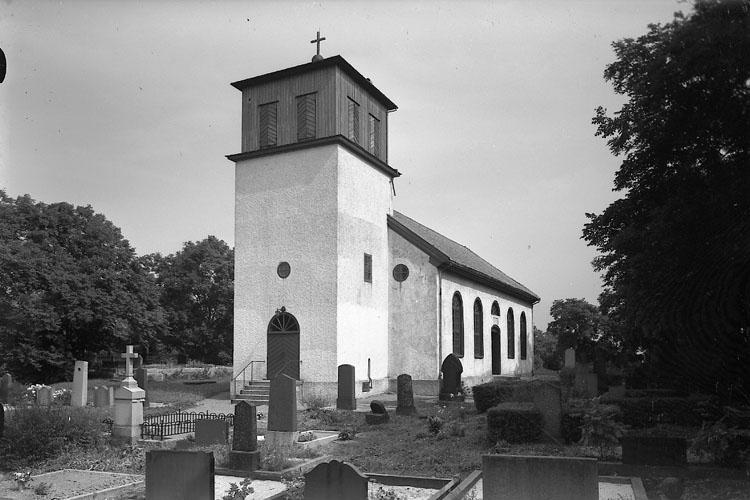 """Enligt AB Flygtrafik Bengtsfors: """"Klövedals kyrka Bohuslän""""."""