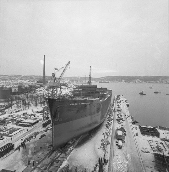 Dop och sjösättning av fartyg 202 T/T George L. Parkhurst