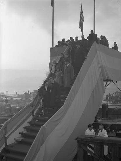 Sjösättning av fartyg nr. 269 B/C Norse Carrier.