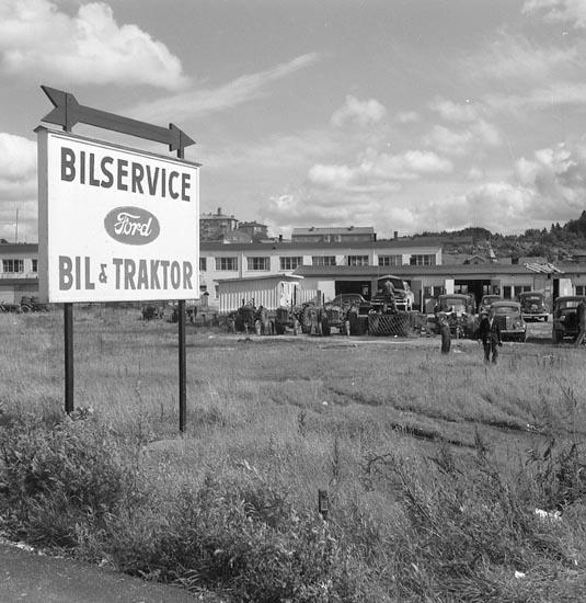 """""""Det första spadtagen augusti 1954""""."""