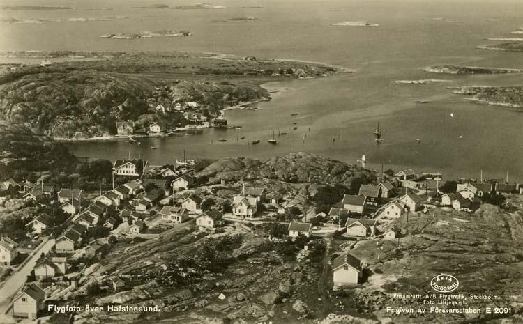 Flygfoto över Hafstensund.