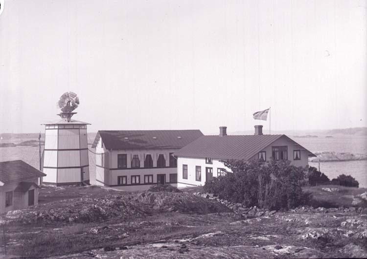 "Enligt text som medföljde bilden: ""Kristineberg, Aqvariet i Tornet 7/7 1901."""