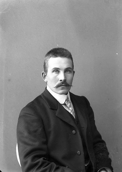 """Enligt fotografens journal nr 2 1909-1915: """"Larsson Axel Här""""."""