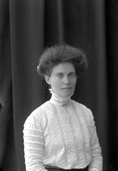 """Enligt fotografens journal nr 2 1909-1915: """"Thorsson, Fr. Anna Här""""."""