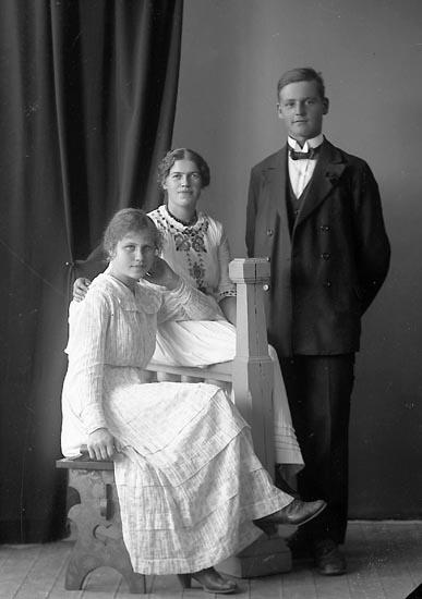 """Enligt fotografens journal nr 4 1918-1922: """"Karlsson, Ester Smedseröd Ucklum""""."""