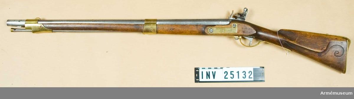 Grupp E II. Tillverkningsnummer 506 på stocken. Tillverkad vid Norrtälje faktori.