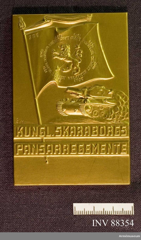 Påskrift baksida: Inspektören för pansartrupperna överste P.D.A. Janse 1945-09-30.