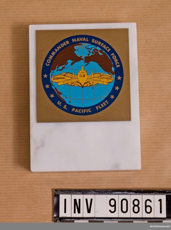 Till Stig Synnergren från Commander Naval Suface Force U.S. Pacific fleet