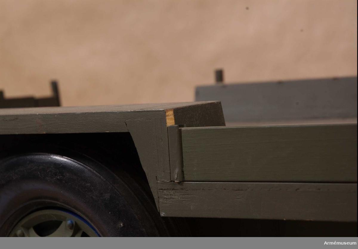 Modell av släpvagn