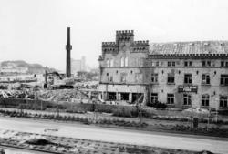 Rivning av Kampennhofs fabriksbyggnad