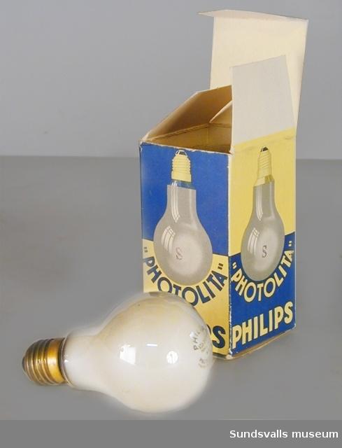 Philips glödlampa med tillhörande kartong