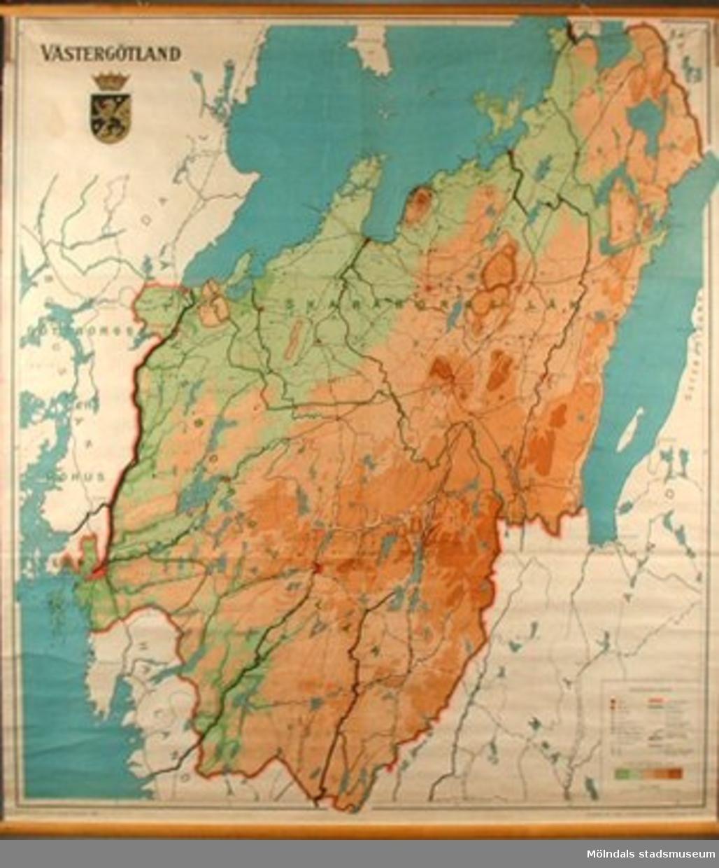 """""""Geografisk karta föreställande Västergötland""""."""