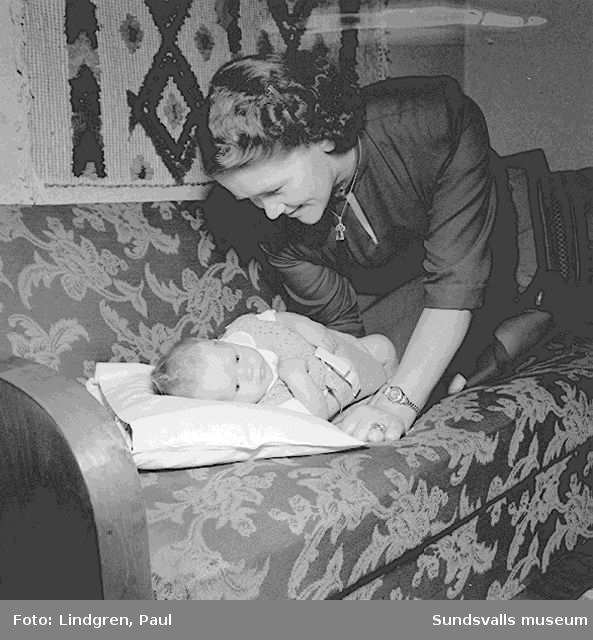 Veckans Baby, fru Wallner, Huggstagatan.
