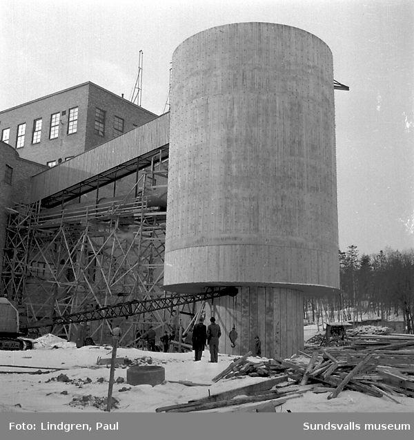 Byggnad på Östrandfabriken.