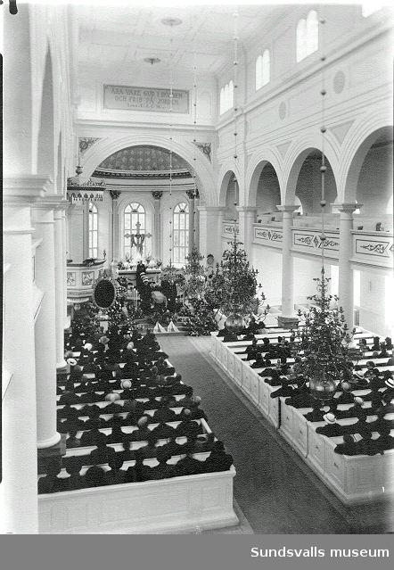 Begravningsförrättning i Njurunda kyrka.