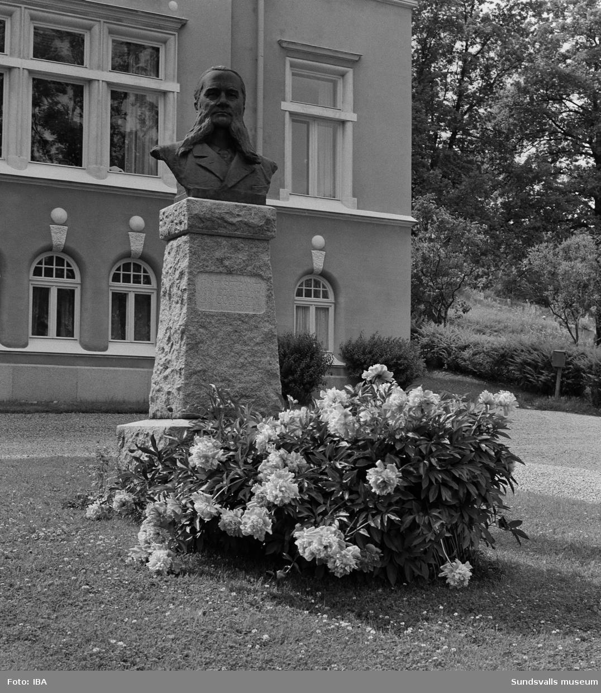 Byst som föreställer Tunadals sågverks förste disponent Carsten Jacobsen. Bysten står utanför kontorsbyggnaden vid Tunadals sågverk. Skulptören bakom verket heter Harald Sörensen Ringi, upvuxen i Tunadal.