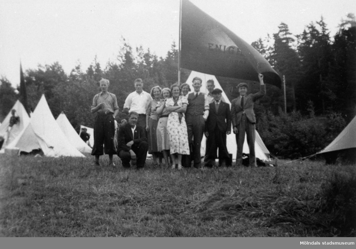 SSU-tältläger i Halden år 1930.