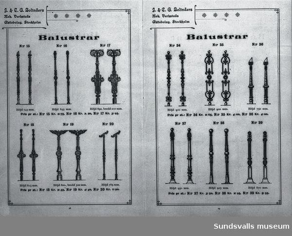 Annons för Bolinders Mekaniska Verkstads produkter.